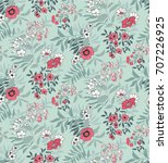 seamless floral pattern in... | Shutterstock .eps vector #707226925