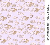 pattern seamless background... | Shutterstock .eps vector #707254312