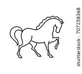 Stock vector horse icon 707258368