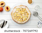 step by step recipe galette... | Shutterstock . vector #707269792