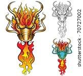 burning dragon head. vector... | Shutterstock .eps vector #70727002
