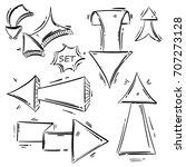 vector abstract set of arrows.... | Shutterstock .eps vector #707273128