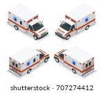 transport isometric set... | Shutterstock .eps vector #707274412