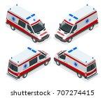 transport isometric set... | Shutterstock .eps vector #707274415
