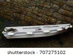 boats  in a little harbor... | Shutterstock . vector #707275102