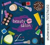 design beauty salon template... | Shutterstock .eps vector #707276152