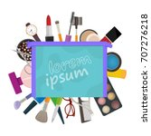 beauty salon design template... | Shutterstock .eps vector #707276218