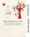 romantic card with funny... | Shutterstock .eps vector #70729276