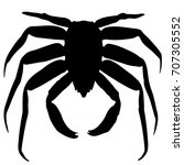 crab silhouette | Shutterstock .eps vector #707305552