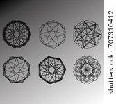 geometric pattern symbols... | Shutterstock .eps vector #707310412