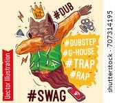 staffordshire terrier rap... | Shutterstock .eps vector #707314195