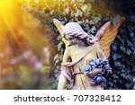 majestic view of statue of... | Shutterstock . vector #707328412