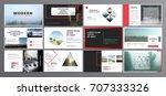 original presentation templates.... | Shutterstock .eps vector #707333326