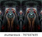 Abstract Fractal Background A...