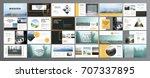 original presentation templates ... | Shutterstock .eps vector #707337895