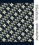 blue and white batik from...   Shutterstock .eps vector #707337922