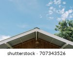 roof top with blue sky  space... | Shutterstock . vector #707343526
