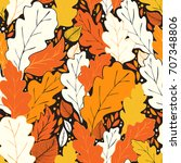 hello fall seamless pattern... | Shutterstock .eps vector #707348806