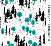 abstract hand drawn outdoor map....   Shutterstock .eps vector #707348866