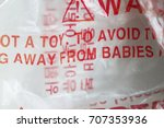 plastic vinyl wrapper danger to ... | Shutterstock . vector #707353936