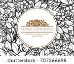romantic invitation. wedding ... | Shutterstock . vector #707366698