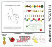 fruit gaming pages. dot to dot... | Shutterstock .eps vector #707378848