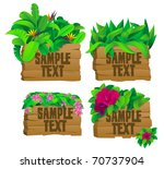 4 tropical wooden signs with... | Shutterstock .eps vector #70737904