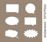 speak bubbles set vector art | Shutterstock .eps vector #707379262
