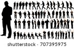 isolated  a set of men  a...   Shutterstock . vector #707395975