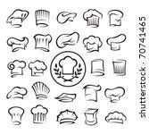 set of chef hats | Shutterstock .eps vector #70741465