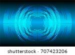 sound waves oscillating dark...   Shutterstock .eps vector #707423206