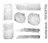 vector brush stroke. grunge ink ... | Shutterstock .eps vector #707429752