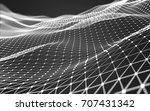abstract polygonal space low... | Shutterstock . vector #707431342
