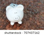 One Large White Piggy Bank...