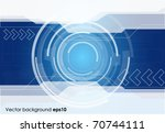 abstract technology background | Shutterstock .eps vector #70744111