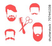 cute vector illustration of men ... | Shutterstock .eps vector #707441338