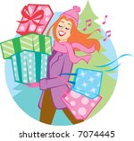 gift of giving | Shutterstock .eps vector #7074445