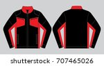 black and red sport jacket... | Shutterstock .eps vector #707465026