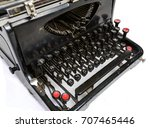 close up of a vintage... | Shutterstock . vector #707465446
