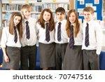 portrait of group of teenage... | Shutterstock . vector #70747516