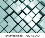 abstract metal cube background | Shutterstock . vector #70748140