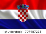 flag of croatia.   | Shutterstock . vector #707487235