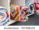 patchwork  sewing and fashion... | Shutterstock . vector #707488132