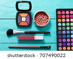 cosmetics and accessories on... | Shutterstock . vector #707490022