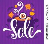 happy halloween sale  banner... | Shutterstock .eps vector #707492176