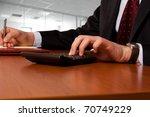 businessman working working... | Shutterstock . vector #70749229