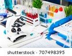chemistry  medicine  pharmacy ... | Shutterstock . vector #707498395