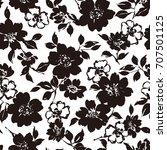 flower illustration pattern | Shutterstock .eps vector #707501125