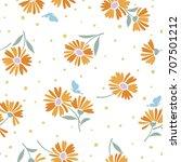 flower illustration pattern | Shutterstock .eps vector #707501212