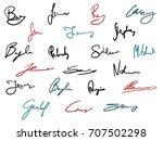 vector signature set   business ...   Shutterstock .eps vector #707502298